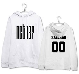 Wholesale Autumn Color Names - Kpop new idol group nct u nct 127 member name printing black white hoodie pullover sweatshirt for autumn winter