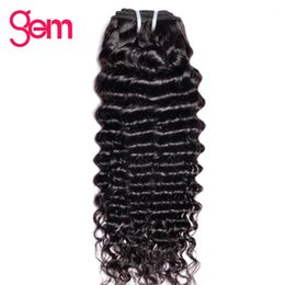 Wholesale Beauty Supply Weave - Brazilian Curly Hair 100% Human Hair Weave Bundles GEM BEAUTY Supply Weave Natural Color 1 Bundle Non-Remy Can Be Dyed