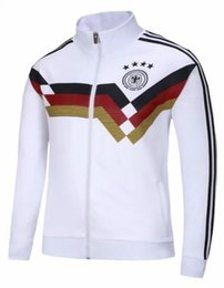 Wholesale vintage suit jackets - Retro VINTAGE CLASSIC 1990 World Cup germany jackets training suit Home White top thai KLINSMANN Matthäus AAA+ camisa de futebol jerseys