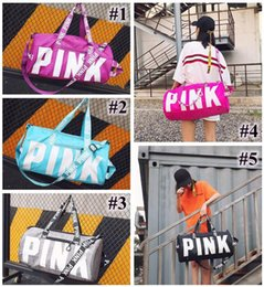Wholesale wholesale luggage bag - Pink Duffel Bags Handbags Unisex Travel Bag Waterproof Victoria Casual Beach Exercise Luggage Bags Canvas Secret Storage Bag
