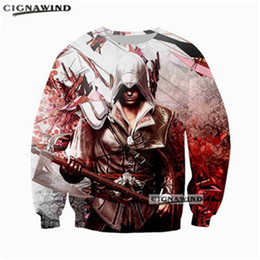 мужская толстовка с капюшоном Скидка New arrival cool sweatshirt Assassins Creed Game hoodie men/women 3D printing sweatshirts unisex hip hop style streetwear tops