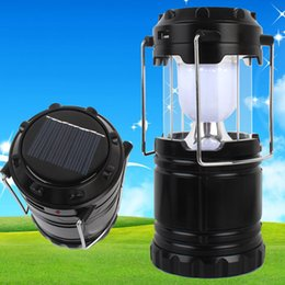 emergency building lamps Coupons - Rechargable LED Solar Energy Camping Light Built In Battery LED Lantern Emergency Outdoor Lighting Handed Solar Lamp