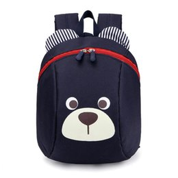 Wholesale Back Bags For Girls - Cartoon Cute Bear Small Backpack For Kids Oxford Shoulder Bag Children Back Pack School Book Bags for Girls Boys Travel Bag Rucksacks