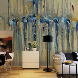 Wholesale Oil Painting Asia - Photo wallpaper European classical abstract oil painting wall 3D stereo living room restaurant wallpaper custom bedroom mural