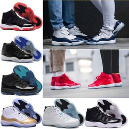 Wholesale Space Boots - 2018 Mens 11 Basketball Shoes UNC Gym Red Black Barons bred space jam concord Navy Gum Athletic sneakers eur 36-47