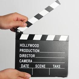 filmati degli attrezzi Sconti Wooden Director Video Scene Clapperboard Film Clapper Board Film Prop GO Tool Vendita calda di alta qualità