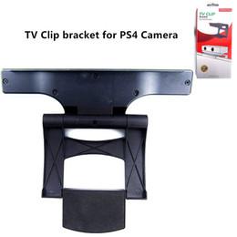 abrazaderas de la cámara montajes de clip Rebajas Soporte de clip de TV para soporte de abrazadera de montaje de abrazadera de soporte de envío gratuito para cámara PS4 de color negro con paquete de caja de regalo