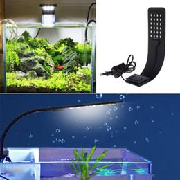 Peixe aquário clipe lâmpada on-line-Magro LED Plantas de Iluminação de Luz de Aquário Crescer Luz 10 W Planta Aquática Iluminação Clip-on Lâmpada À Prova D 'Água Para O Tanque de Peixes Plugue DA UE