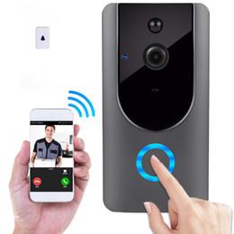 Timbre de la puerta de intercomunicación visual online-Inteligente Inalámbrico WiFi Seguridad Videoportero DoorBell Consumo de grabación visual remoto Timbre de la puerta Video Timbre de la puerta Timbre de la cámara