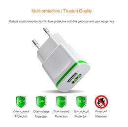 Wholesale M8 Pro - 5V 2.1A Smart Travel Dual 2 USB Charger Adapter Wall Portable EU Plug Mobile Phone for Leagoo C9 M5 Edge M7 M8 Pro Shark 5000