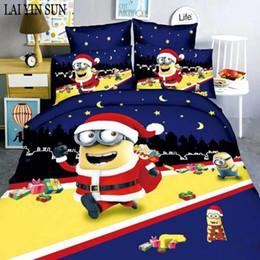 Wholesale Santa Claus Duvet - 2017 HOT SALE Fashion Bedding set 3pcs Cartoon Noble High Quality Bed linen Bedclothes Duvet cover set Santa Claus