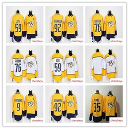 2018 Season Nashville Predators jersey 9 Forsberg 12 Mike Fisher 35 Pekka Rinne  59 Roman Josi 76 PK Subban 92 Ryan Johansen Hockey Jerseys 1a91d97ff