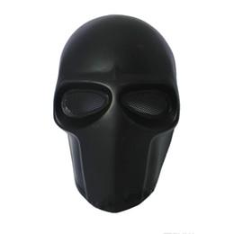 Casco táctico del ejército online-Ejército de dos partes Máscara de fibra de vidrio Tactical Airsoft Paintball Casco (Negro) máscara de baile Máscara de seguridad