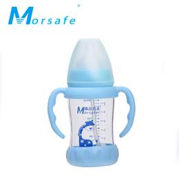 Wholesale Neonatal Baby - Baby Wide-caliber Glass Bottle Baby Neonatal Boot High-borosilicate Glass Bottle