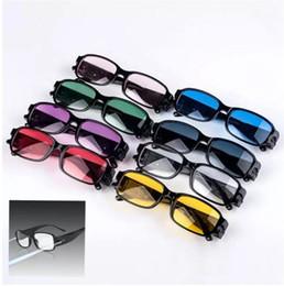 Wholesale led reading glasses wholesale - Multi Strength LED Reading Glasses Light lens Night Vision aged Glasses LED lighting Reading Eye Glasses