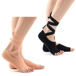1 paio Donne Yoga Calze 5 dita antiscivolo Massaggio in gomma Fitness Calzini caldi Gym Dance Sport Esercizio Barefoot Feel da
