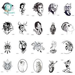 maschera gatto dell'annata Sconti Rocooart CCSEX1 Vintage Old School Style Kitty Cat Head Donne Cranio Maschera Autoadesivo del tatuaggio temporaneo Body Art Falso Taty
