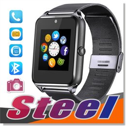 Wholesale Bluetooth Handsfree Watch - For apple iphone smart watch android Bluetooth smartwatch fitness Wristwatch with Touch Screen Handsfree Call Camera anti-lost Call reminder