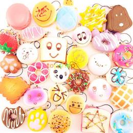 30 teile / los squishies spielzeug Langsam Steigenden Squishy Regenbogen süßigkeiten eis kuchen brot Erdbeere Brot Charme Telefon Gurte Weiche Frucht Spielzeug DHL von Fabrikanten