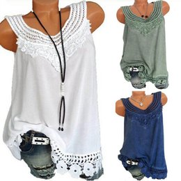 011cb60dc0e Vintage Blouse Summer Lace Tops Plus Size Sleeveless Women 2018 Shirt  Patchwork Tunic Ladies Hollow Out Crochet Blusas Feminina