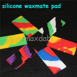 hot sale Waxmate Containers Silicone Rubber Containers Silicon Storage Square Wax Jars Dabber Oil Holder Waxmate Rubber Wax Containers