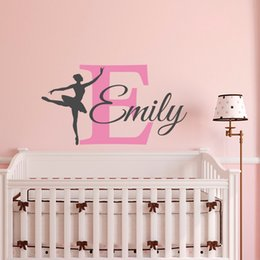 black arts festival Coupons - Removable Ballerina Wall Decal Girl Personalized Name Ballet Dance Vinyl Wall Sticker for living room Bedroom home decoration