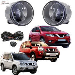 Parachoques de coche de nissan online-Luces de niebla del coche para Nissan TIIDA 2009 ~ 2010 Luz de la lámpara de la niebla del parachoques delantero Reemplace el kit de montaje (un par)