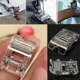 Wholesale household sewing machine parts - Low Shank Roller Sewing Machine Parts Press Foot Presser Leather Foot For Brother Household Sew Machine Accessories 5pcs set