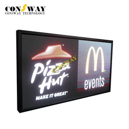 Wholesale Plastic Advertising - Free shipping programmable led advertising sign display with size 1424*848mm and RGB full color