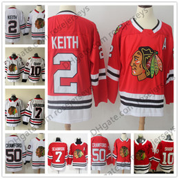 Wholesale Duncan Keith - New Brand Mens Youth Womens #2 Duncan Keith 7 Brent Seabrook 10 Patrick Sharp 50 Corey Crawford Red White Chicago Blackhawks Hockey Jerseys