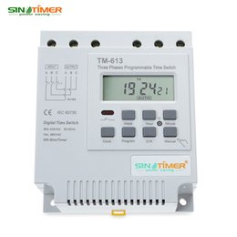 Wholesale Timed Relay Switch - Freeshipping AC 380V LCD Digital Multipurpose Three Phases Programmable Control Power Timer Switch High Power Time Relay Instrument