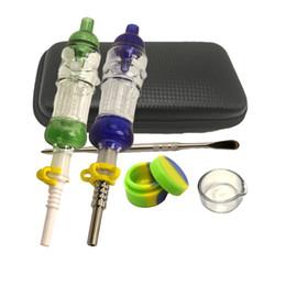 Plus Honey Nector Kit con 14 millimetri di titanio per unghie punta in ceramica di quarzo Punta in silicone per tubi Dab protable per fumatori da