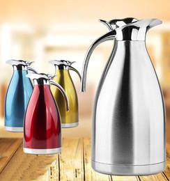 Canada Acier inoxydable isolant pot double bouilloire européenne siège social café pot bouteille d'eau froide cadeau Offre