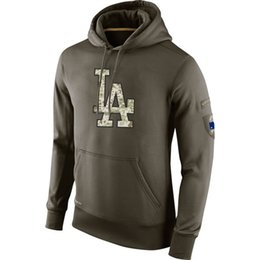 Sudadera Los Angeles Dodgers Olive Salute To Service KO Performance Baseball Hoodie hombres mujeres desde fabricantes