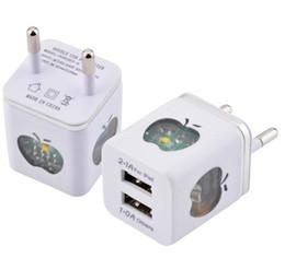 2019 chargeur usb double led 2A Chargeurs muraux carrés LED lumière US EU Dual USB Adaptateur secteur chargeur de maison 2 ports pour tous les téléphones i7 Samsung LG promotion chargeur usb double led