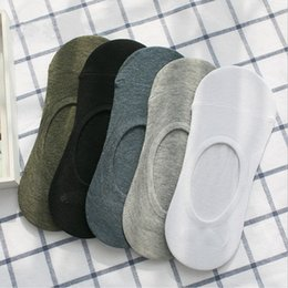 Wholesale invisible socks for men - New Men's Socks Summer Men's Cotton Bamboo Fiber Socks Low Socks Cotton Seamless Invisible Sock Slippers for Men Fashion Boat Sock