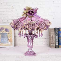 Wholesale Classical Study Table - Creative Resin Table Lamp Bedroom Bedside Flower Table Lamp Birthday Wedding Decorating Desk Light Living Room Modern led Table Lamps