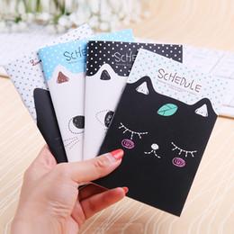 2019 bloco de notas do gato 1 PC Escritório Papelaria Bonito Notebook Cat Estudantes Diário Filofax Notepad Material Escolar Presente Enviado em Aleatório bloco de notas do gato barato