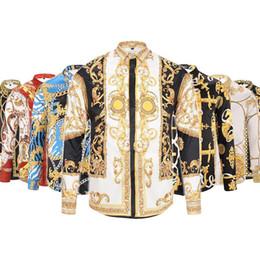 2018 Мужчины 3G цветочный тигр печати цвет смеси роскошные повседневная Harajuku рубашки с длинными рукавами мужская Медуза рубашки 4G M-3XL от