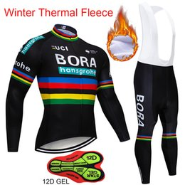 64597c260 Hot sale 2018 BORA Winter Thermal Fleece Long Sleeves Cycling Jersey Set Clothing  Bike Clothes Wear MTB Bicycle Maillot Ropa Ciclismo