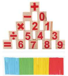 Wholesale Wooden Math Sticks - 20PCS Baby Learning Count Toys Education Material Counting Sticks Early Education Wooden For Child Math Games Y007A