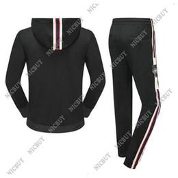 Wholesale Tiger Hooded Coat - 2018 luxury designer brand best version men clothing tracksuits embroidery tiger letter hoodies sweatshirt coat pants suit sweatsuit