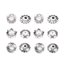 Canada 500 pcs / lot en acier inoxydable Torus chapeaux de perles pour réceptacle d'extrémité de perle fleur Diy espacés en dehors de bijoux accessoires pour la vente en gros Offre