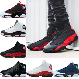 Wholesale Army Navy Game - (withbox) 13 13s men basketball shoes Low Chutney Navy blue Pure Money Chicago black cat DMP He Got Game Playoffs men shoes Sneaker