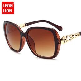 LeonLion 2018 gafas de sol de la vendimia de las mujeres de diseño de marca de lujo marco grande gafas de sol fiesta de viaje HD Lunette De Soleil Femme desde fabricantes