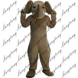 Wholesale Adult Mascot Costume Elephant - 2018 New high quality Elephant Mascot costumes for adults circus christmas Halloween Outfit Fancy Dress Suit Free Shipping