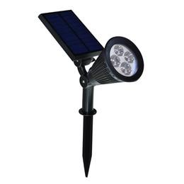 Wholesale Dusk Sensor - Iguardor 4LED Solar Spotlight Auto Color Changing Dusk to Dawn Sensor Waterproof Solar Powered Spotlight Wall Path Light