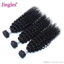 9A Brezilyalı Bakire Saç Demetleri Kinky Kıvırcık 100 Işlenmemiş Brezilyalı Remy İnsan Saç Uzantıları Manikür Hizalanmış Afron Kinky Kıvırcık Örgü cheap unprocessed virgin afro human hair extensions nereden işlenmemiş bakire afro insan saç uzantıları tedarikçiler