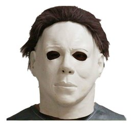 Wholesale michael movies - Michael Myers Style Halloween Horror Mask Latex Fancy Party Horror Movie free shipping