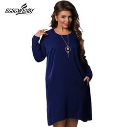 489de12a3fa3 5XL 6XL 2018 Nuovo Inverno Moda Plus Size Abbigliamento Donna Manica Lunga  Allentato Vestito di Grandi Dimensioni Donne O-Collo Vestito Casuale  Vestidos a ...